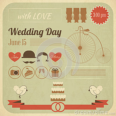 Wedding Day Invitation Infographics Card