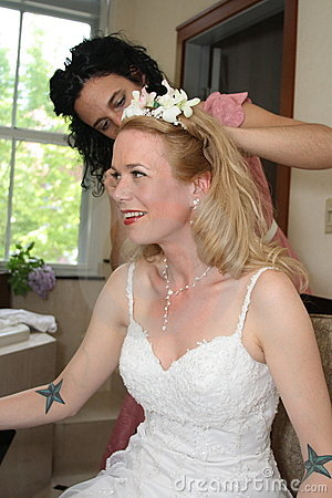 Wedding Day Preparations - Bride and Bride s Maid