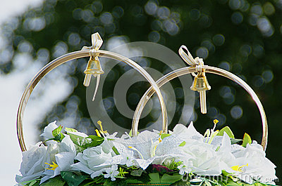Wedding decorations, a couple of rings