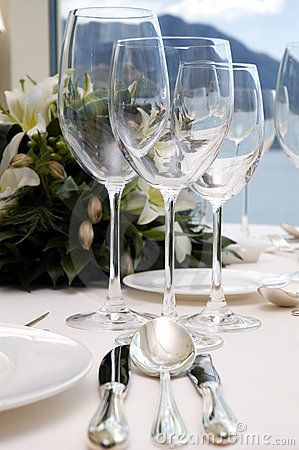 Wedding diner table