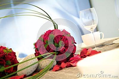 Wedding dinner reception table