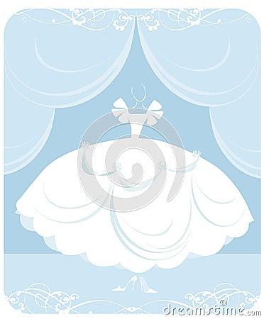 Wedding dress illustration royalty free stock photos image 6676948