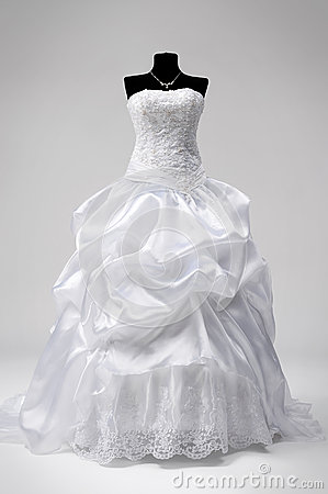 Wedding Dress On A Mannequin Stock Images
