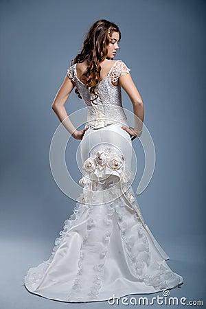 Free Wedding Dress On Fashion Model Royalty Free Stock Photo - 4561195