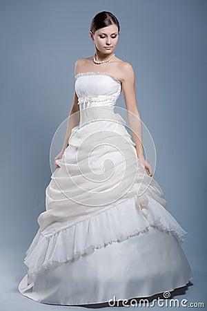 Free Wedding Dress On Fashion Model Stock Photos - 4561343