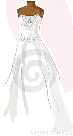 Free Wedding Dress On Mannequin - Pink Royalty Free Stock Image - 5765936