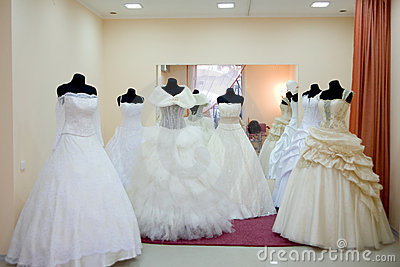 Wedding dress saloon