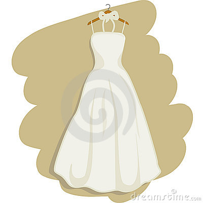 Illustration of a romantic wedding dress + vector EPS file.