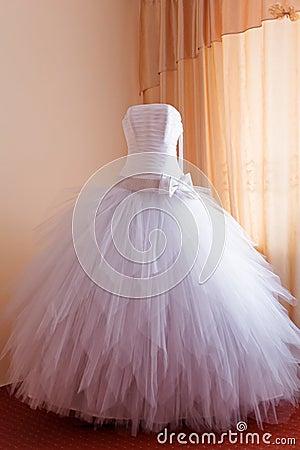 Wedding dress waiting royalty free stock photos image 4464908
