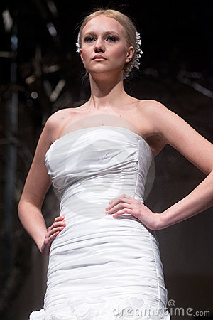 Wedding dresses fashion show Editorial Stock Image