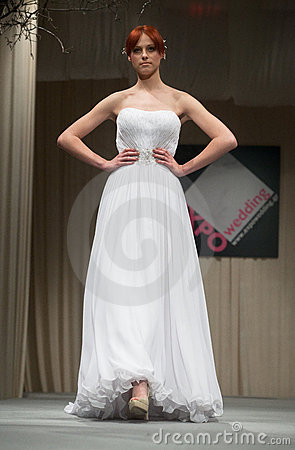 Wedding dresses fashion show Editorial Image