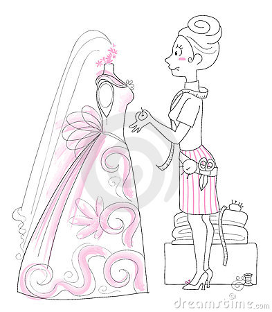 Free Wedding Dressmaker Royalty Free Stock Photos - 2154628