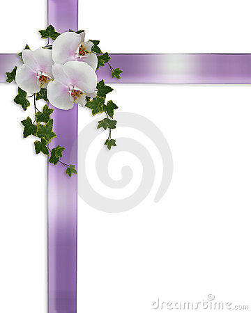 Wedding or Easter Border orchids and ivy