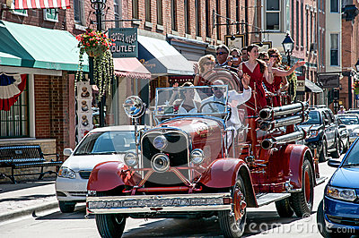 Wedding en galena, Illinois Foto de archivo editorial