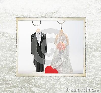 Wedding figurines.