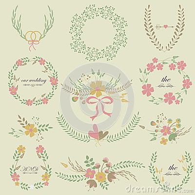 Wedding floral frames