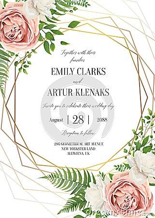 Free Wedding Floral Invite, Invtation Card Design. Watercolor Lavende Stock Photo - 119913690
