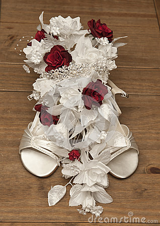 Wedding flower and shoe