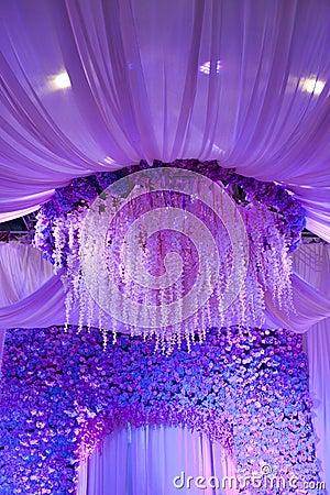 Free Wedding Flowers Background Design Stage Royalty Free Stock Photo - 34438065