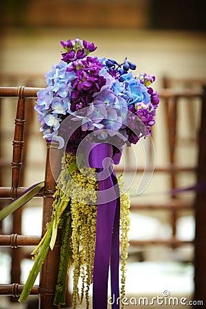 Free Wedding Flowers On Seat Royalty Free Stock Photo - 4726625