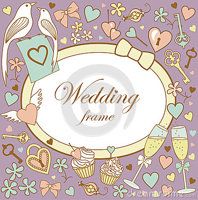 Wedding-frame-on-violet