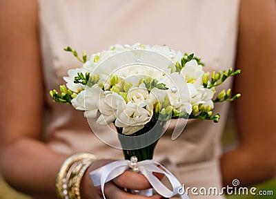 Wedding freesias