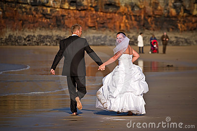 Wedding fun on the beach
