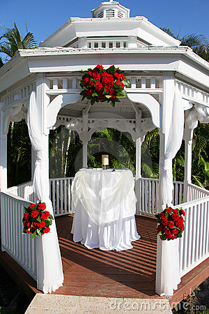 Wedding Gazebo in tropical location