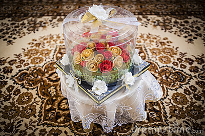 Wedding Couple Gift Exchange : Wedding Gift Decoration Stock PhotoImage: 45834004