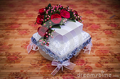 Wedding Couple Gift Exchange : Wedding Gift Decoration Stock PhotoImage: 53613211