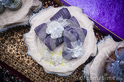 Wedding Couple Gift Exchange : Wedding Gift Decoration Stock PhotoImage: 58828783