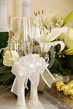 Free Wedding Glasses Stock Photos - 12535823
