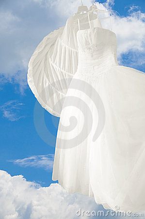 Wedding Gown Blue Sky