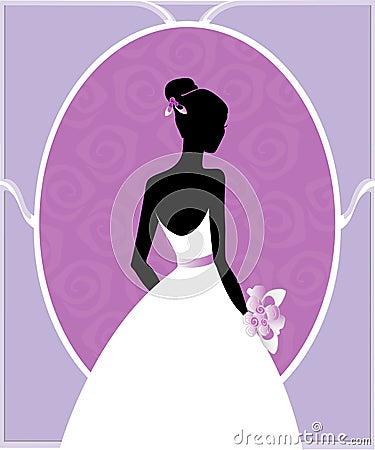Free Wedding Gown Silhouette Stock Photos - 11909633
