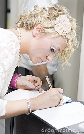 Wedding Guest Signing Wedding Guestbook