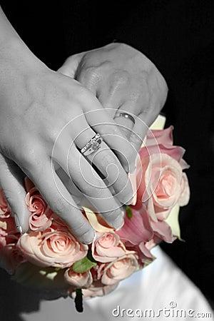 Free Wedding Hands Stock Image - 486371