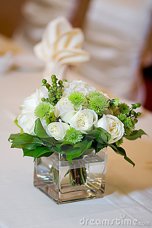 Wedding Head Table Centerpiece Closeup