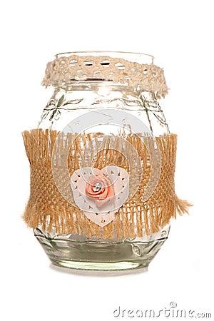 wedding homemade candlelight jar cutout Stock Photo