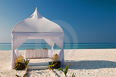 Wedding hut at the beach