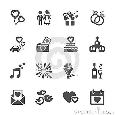 Free Wedding Icon Set, Vector Eps10 Stock Photo - 49079880