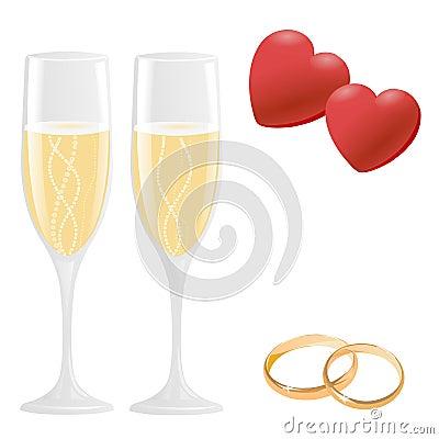 Wedding Icons Royalty Free Stock Photography - Image: 17809487: www.dreamstime.com/royalty-free-stock-photography-wedding-icons...