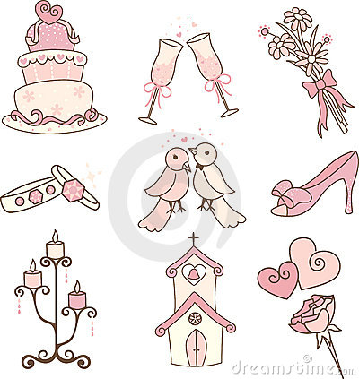 Free Wedding Icons Stock Images - 22616114