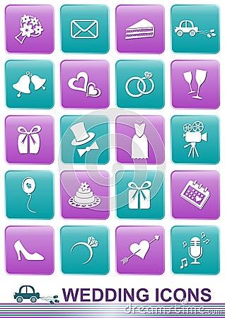 Free Wedding Icons Royalty Free Stock Images - 34319169