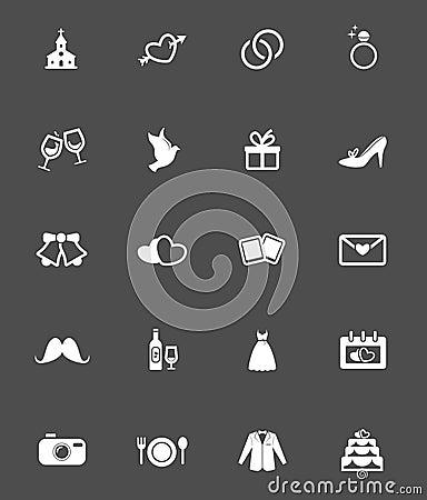 Free Wedding Icons Stock Images - 48587534