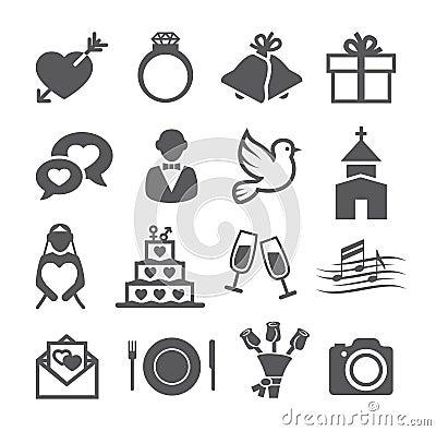 Free Wedding Icons Royalty Free Stock Photos - 52505778