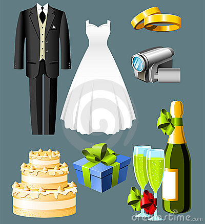 Free Wedding Icons Stock Images - 5374934