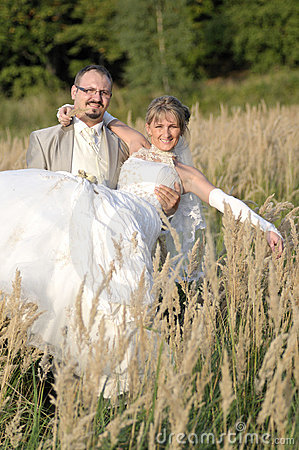 Wedding im Freienlandschaft