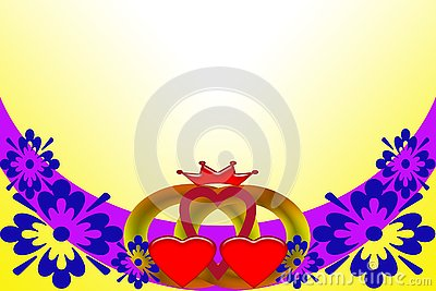 Wedding invitation. Abstract image with multicolored elements. Stock Photo