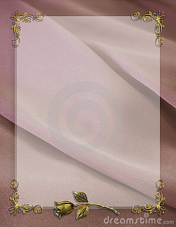 Free Wedding Invitation Border Mauve Satin Royalty Free Stock Photo - 7066155