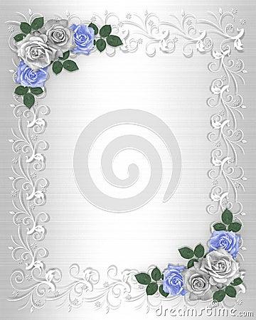 Wedding Invitation Border White Satin